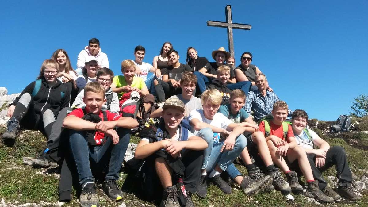 Gruppenbild vom Wandertag der Klasse 9c